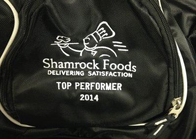 Shamrock foods backpack