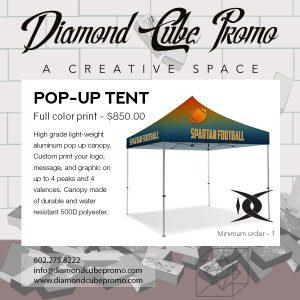 pop up tent custom printing dye sub full color