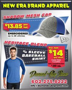 new era brand t-shirts hats hat custom screen printing uniforms scottsdale 85251 az promo marketing