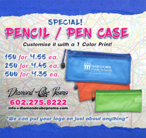 pencil case custom printing printed scottsdale arizona az phoenix school back to school 2 pen case