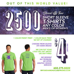 arizona 85251 screen printing custom shirts t-shirts embroidery promo products phoenix